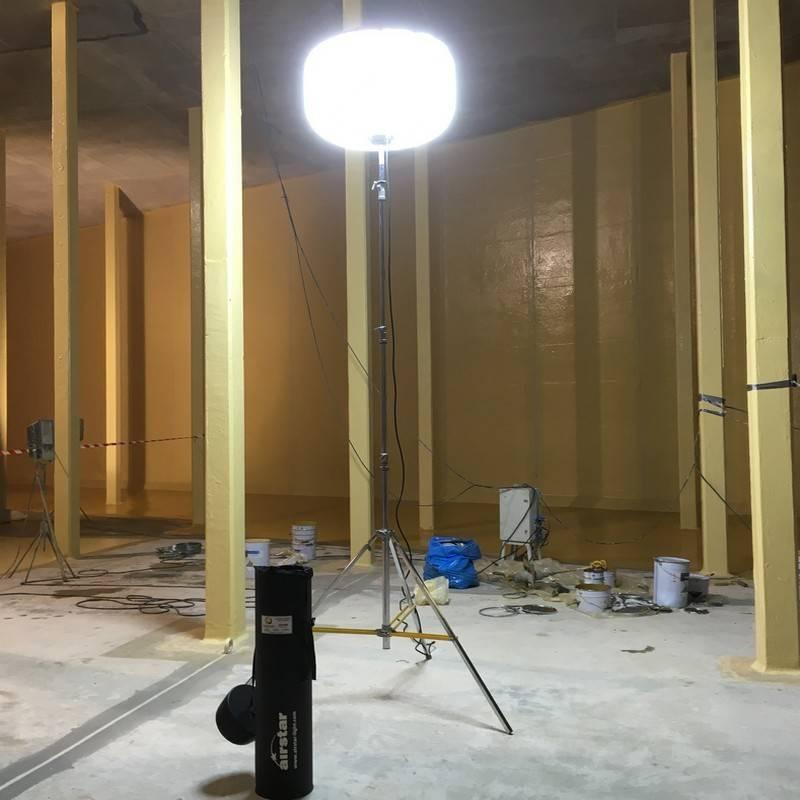 Sirocco 50Klm LED utilisé pour des travaux de maintenance industrielle