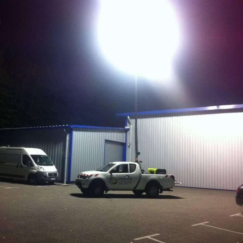 Flex 4000w HTI pour éclairage de chantier mobile