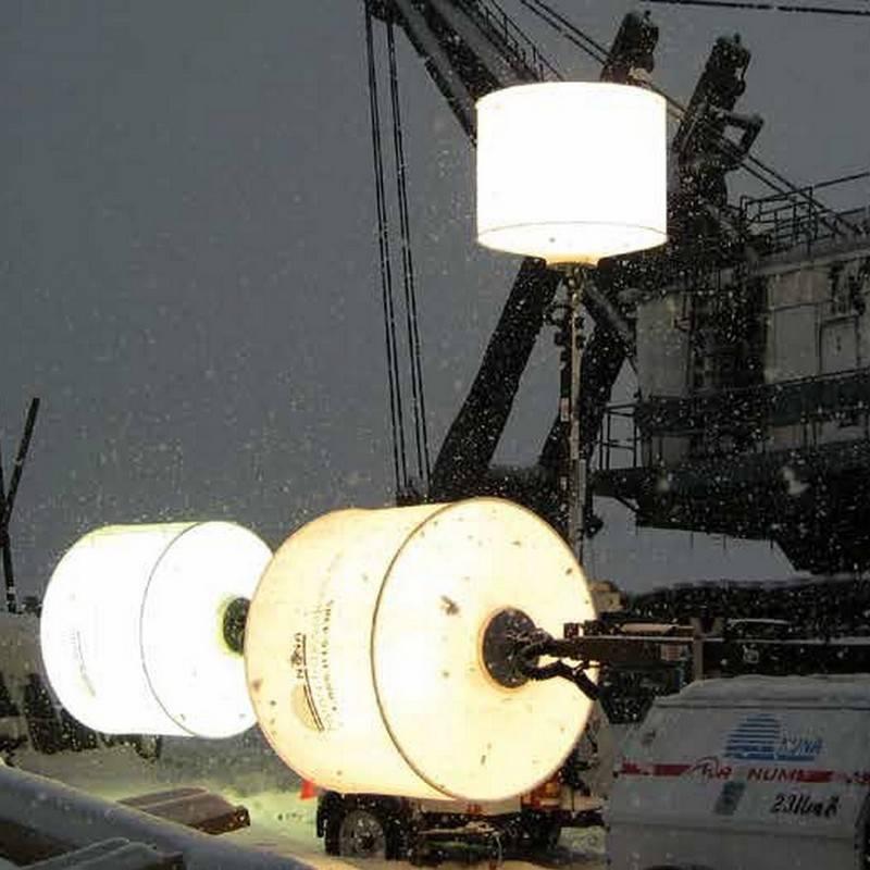 Flex 4000w HTI pour l'éclairage de travaux maritimes