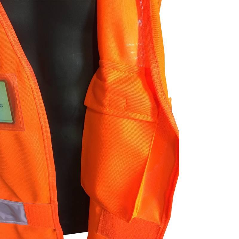Poche intérieur du gilet LED orange Prolutech