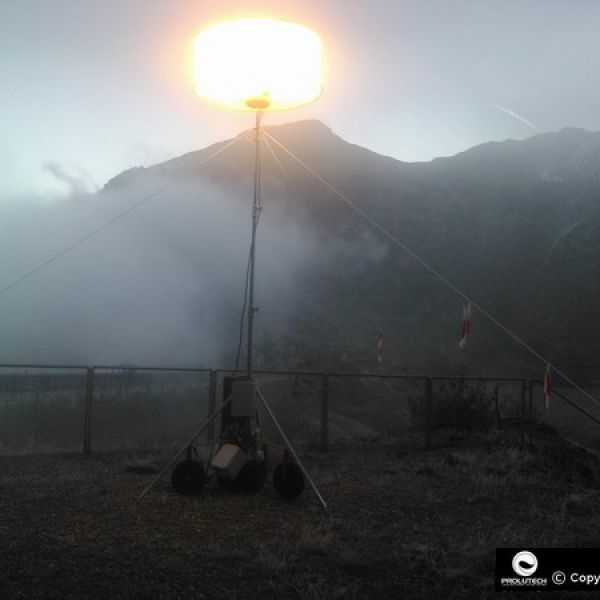Eclairage puissant du ballon lumineux Flex 1000w HTI utilisé par Prolutech sur son chantier EDF