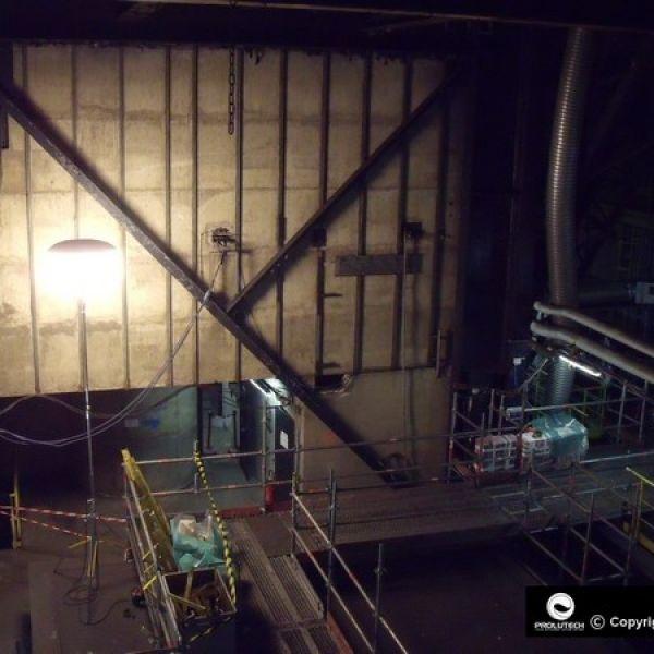 Eclairage industriel en centrale nucléaire par ballon éclairant Airstar de gamme Sirocco 2M distribué par Prolutech