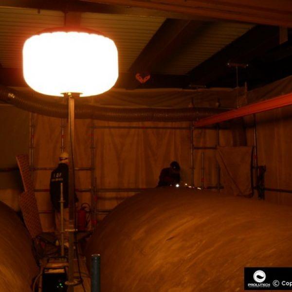 Eclairage spécifique en milieu confiné avec le ballon éclairant LED prolutech