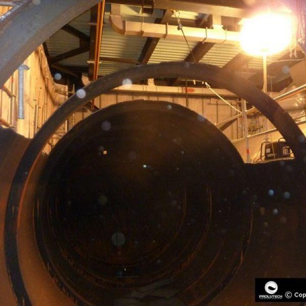 Ballon éclairant Sirocco 2M Airstar présenté ici par Prolutech pour éclairer une centrale nucléaire EDF