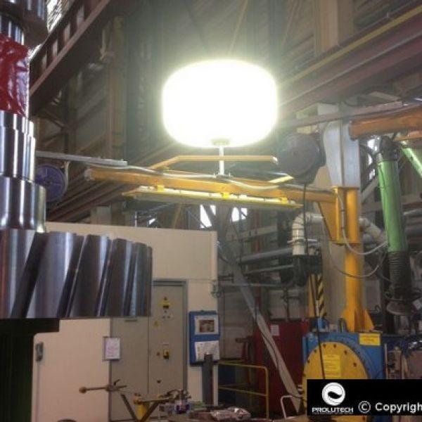 Ballon éclairant Sirocco 2M Airstar 6x100w LED pour éclairage industriel proposé par Prolutech