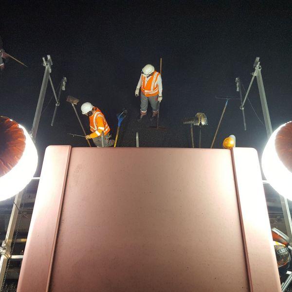 éclairage travaux de nuit