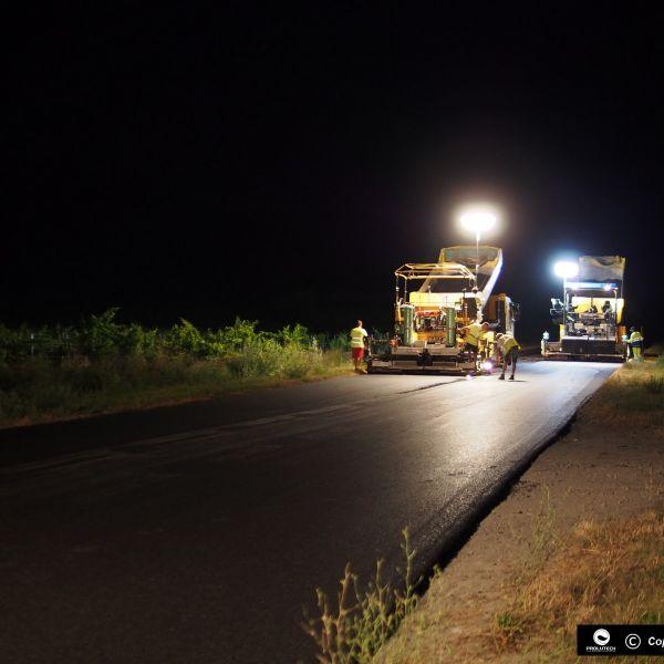 éclairage chantier autoroute