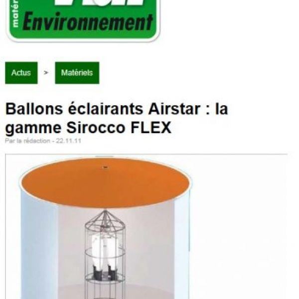 Gamme de ballons lumineux Sirocco Flex